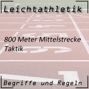 Leichtathletik Laufen 800 m Taktik