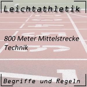 Leichtathletik Laufen 800 m Technik