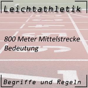 Leichtathletik 800 Meter
