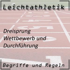 Leichtathletik Springen Dreisprung Durchführung