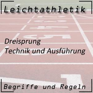 Leichtathletik Springen Dreisprung Technik