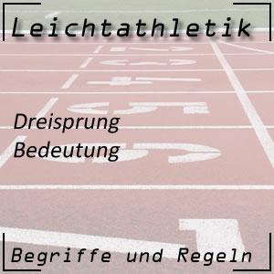 Leichtathletik Dreisprung