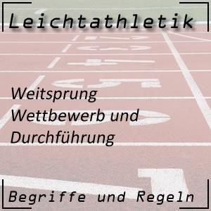 Leichtathletik Springen Weitsprung Durchführung