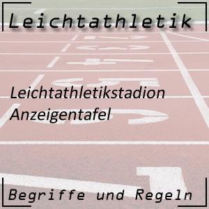 Leichtathletik Anzeigentafel