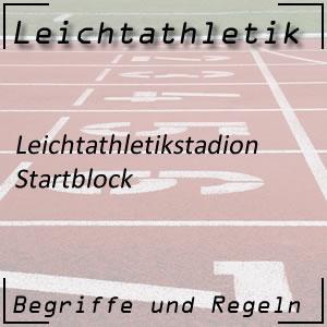 Leichtathletik Startblock