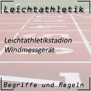Leichtathletik Windmessgerät