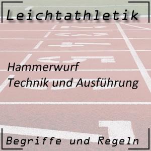 Leichtathletik Hammerwurf Technik