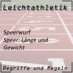 Leichtathletik Werfen Speerwurf Speer