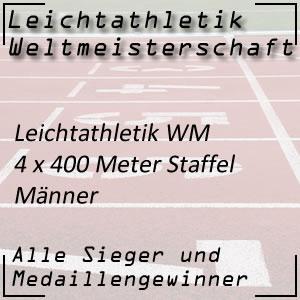 Leichtathletik WM 4 x 400 m Staffelbewerb Männer