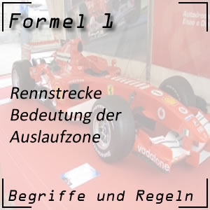 Formel 1 Rennstrecke Auslaufzone