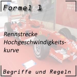 Formel 1 Hochgeschwindigkeitskurve