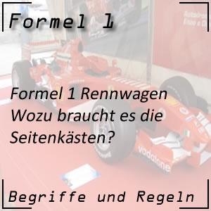 Formel 1 Seitenkästen