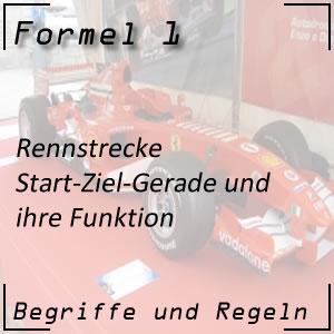 Formel 1 Rennstrecke Start-Ziel-Gerade