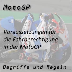MotoGP Fahrer Fahrberechtigung
