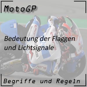 MotoGP Flaggen Lichtsignale
