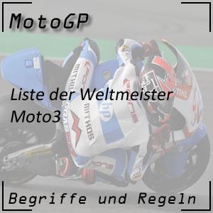 Weltmeister Moto3