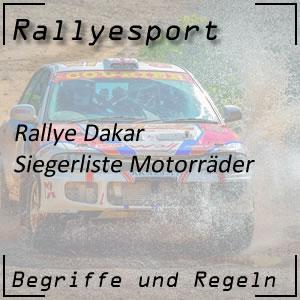 Rallye Dakar Sieger Motorrad