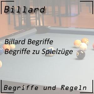 Billard Begriffe Spielzüge Stöße