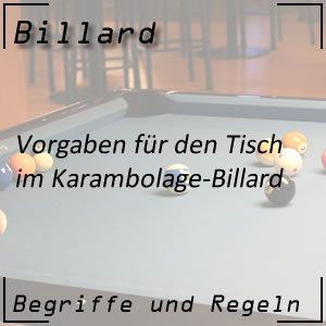 Billard Karambolage Tisch