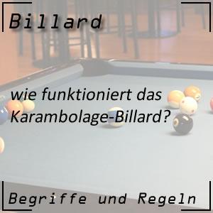 Karambolage-Billard