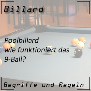 Billard Poolbillard Variante 9-Ball