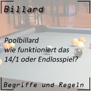 Poolbillard 14/1 oder Endlosspiel