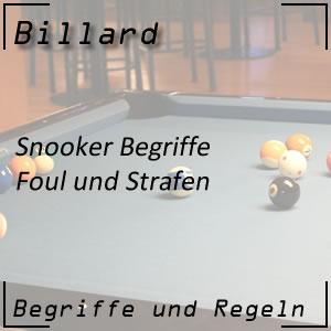 Snooker Foul und Strafen