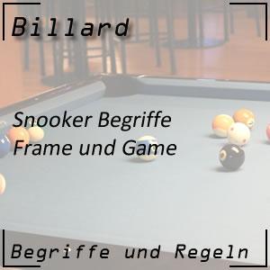 Snooker Game und Frame