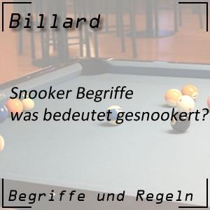 Snooker gesnookert