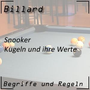 Billard Snooker Kugeln