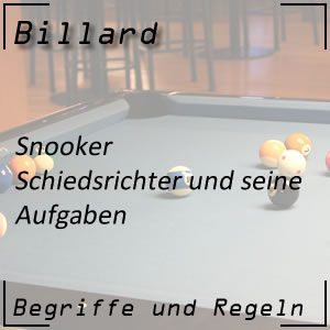 Billard Snooker Schiedsrichter