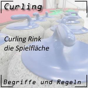 Curling Rink oder Curling Spielfläche