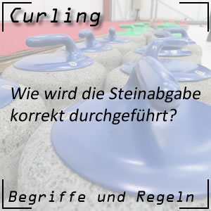 Curling Steinabgabe