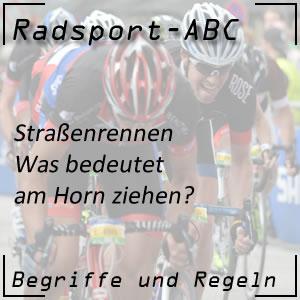 Radsport am Horn ziehen