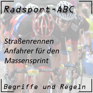 Radsport Anfahrer Massensprint