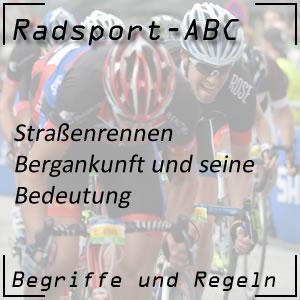 Radrennen Bergankunft