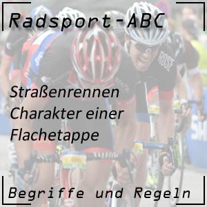 Radsport Flachetappe