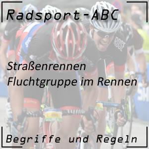 Radsport Fluchtgruppe im Straßenrennen