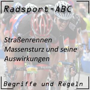 Radsport Massensturz