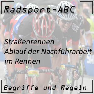 Radsport Nachführarbeit