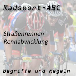 Radsport Rennabwicklung