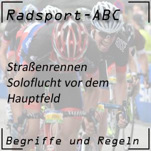 Radsport Soloflucht