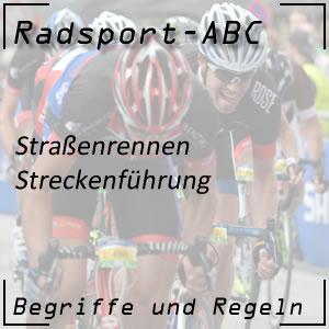 Radsport Streckenführung
