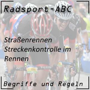 Radsport Streckenkontrolle