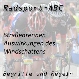 Radsport Windschatten
