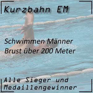 Kurzbahn EM Brust 200 m Männer