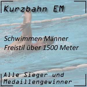 Kurzbahn EM Freistil 1500 m Männer