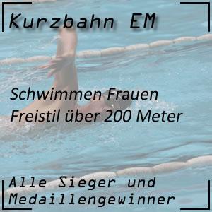 Kurzbahn EM Freistil 200 m Frauen