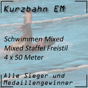 Kurzbahn EM Mixed-Staffel Freistil 4 x 50 m