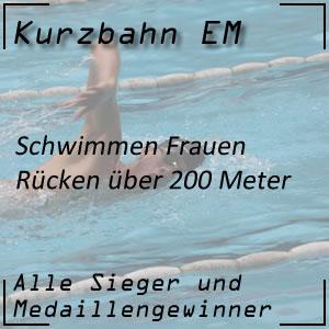 Kurzbahn EM Rücken 200 m Frauen